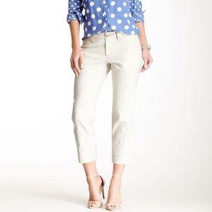 Jag Linen Classic Fit Cropped Pants sz 6
